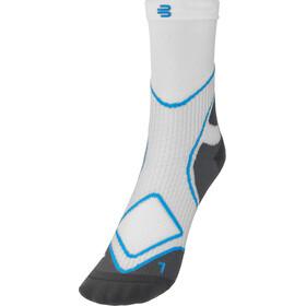 Bauerfeind Run Performance Mid Cut Socks Men, bianco/blu